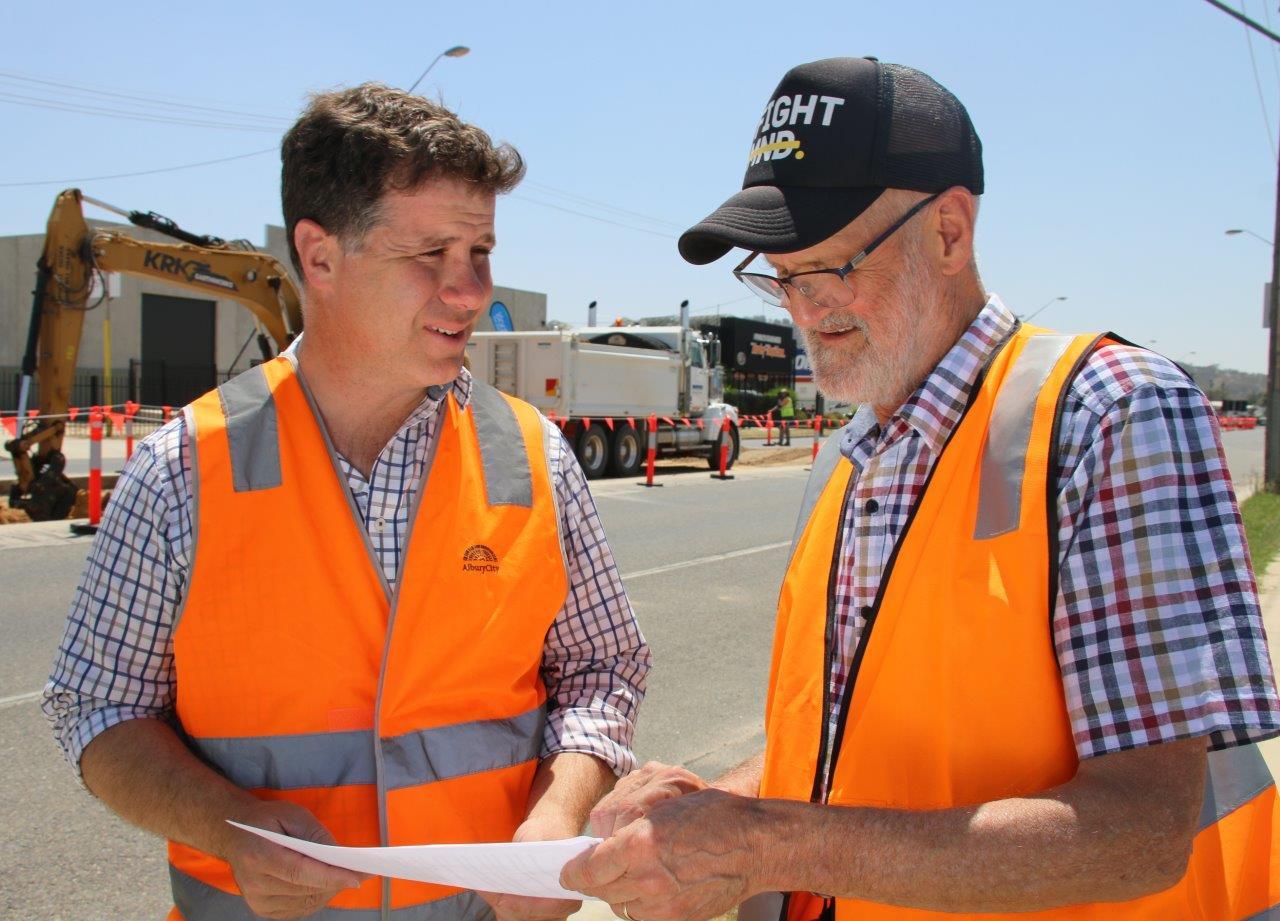 Wagga Road work starts