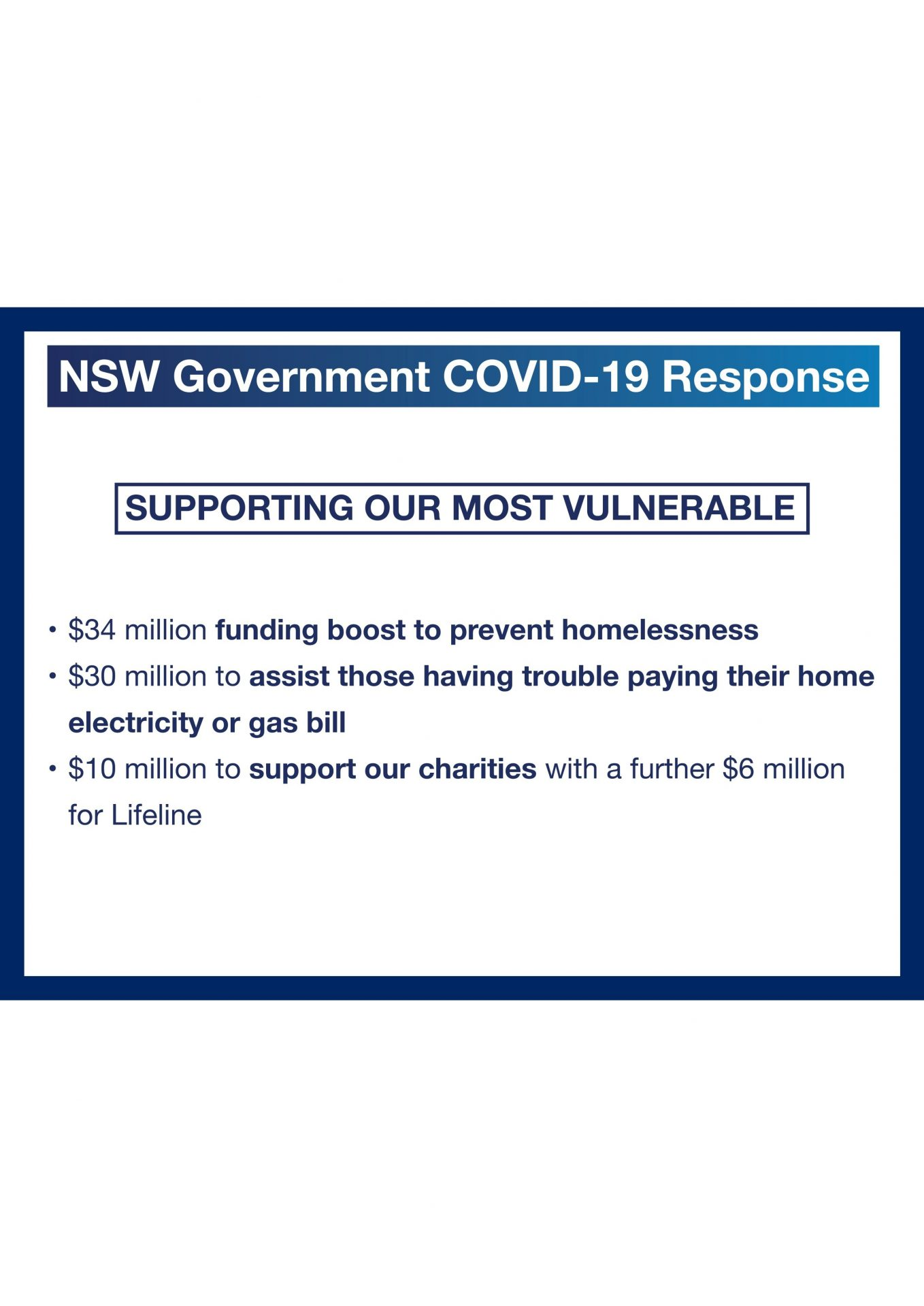 NSW Government - Supporting our most vulnerable