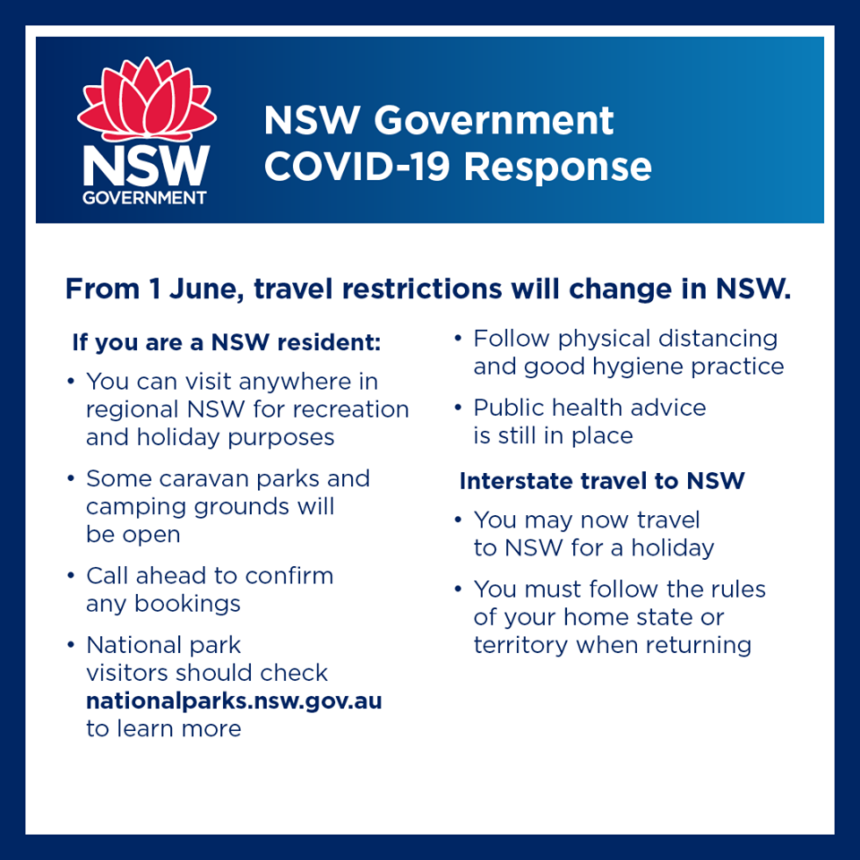 From June 1 - Travel restrictions will change in NSW- COVID-19