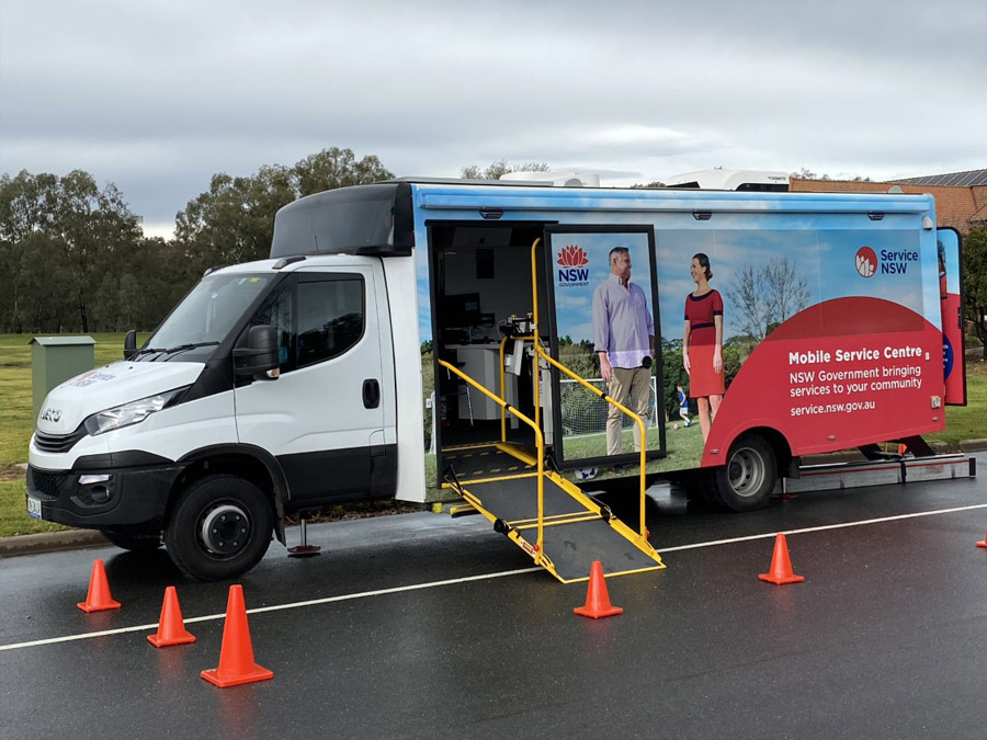Service NSW has moved its mobile border crossing permit assistance to The Cube in Wodonga