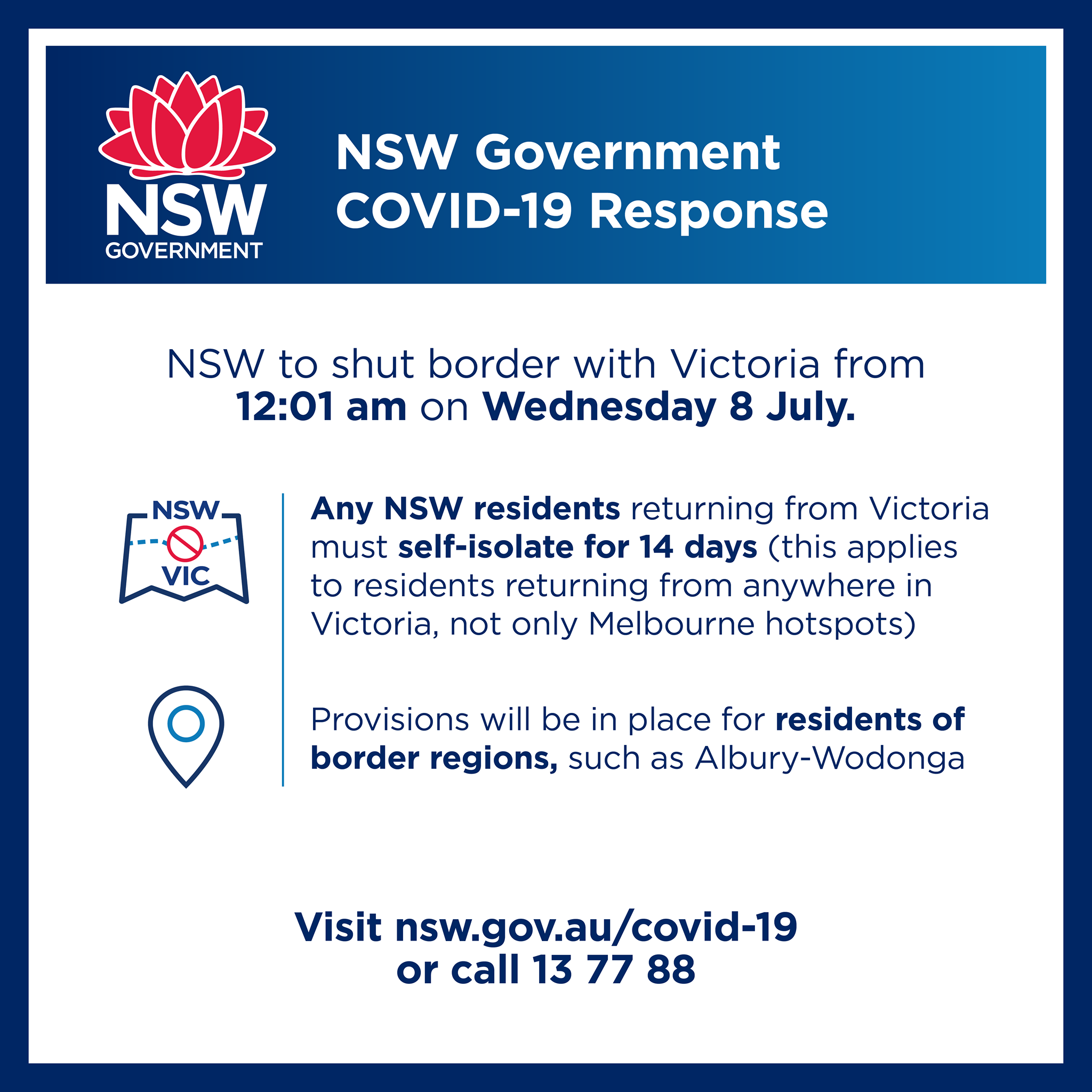 NSW Government COVID-19 Response