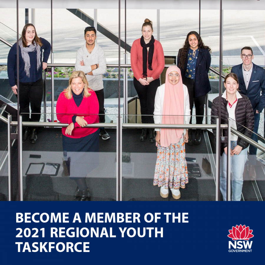 Applications for 2021 Regional youth Taskforce