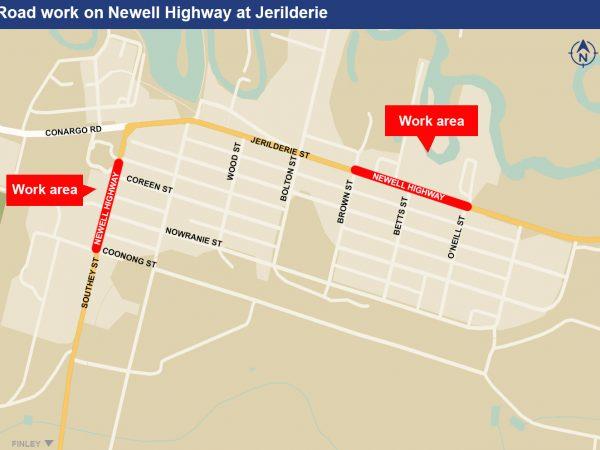 Jerilderie Map - Newell Highway Upgrade 10.02.2021